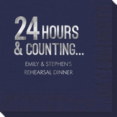24 Hours and Counting Napkin