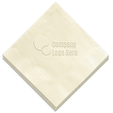 Embossed Beverage Napkins with Customer Supplied Art