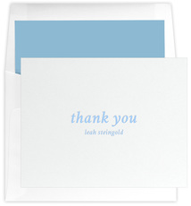 Simple Thank You Letterpress Folded Note Cards