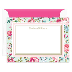 Delicate Roses Flat Note Cards