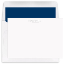 Underlined with Choice of Typeface Flat Note Cards