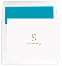 Tall Initials Folded Note Cards