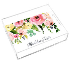 Spring Peonies Lucite Tray