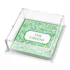 Chateau Garden Petite Lucite Trinket Tray