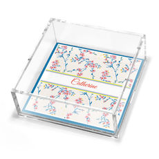Cherry Blossoms Petite Lucite Trinket Tray