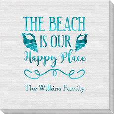 The Beach Is Our Happy Place Linen Like Napkins