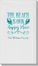 The Beach Is Our Happy Place Linen Like Guest Towels