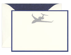 Engraved Airplane Boxed Note Cards