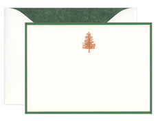 Engraved Fir Tree Boxed Note Cards
