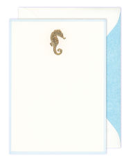 Engraved Seahorse Boxed Note Cards