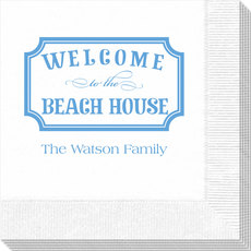 Welcome to the Beach House Sign Napkins