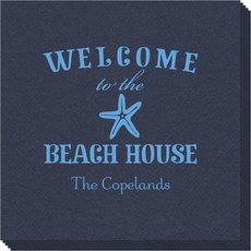 Welcome to the Beach House Linen Like Napkins