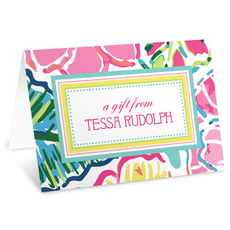 Tropical Floral Folded Gift Enclosures