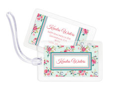 Delicate Roses Luggage Tags