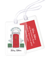 Red Door Luggage Tags