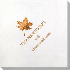 Little Autumn Leaf Bamboo Luxe Napkins