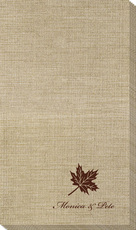 Little Autumn Leaf Bamboo Luxe Guest Towels