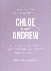 Modern Couple Shimmer Save the Date Cards