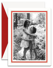 Vertical Classic Red and Gold Frame Photo Cards