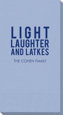 Light Laughter And Latkes Guest Towels