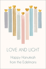 Hanukkah Heart Candles Gift Stickers