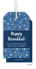 Starry Hanukkah Hanging Gift Tags