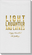 Light Laughter And Latkes Linen Like Guest Towels