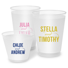 Personalized Modern Couple Frosted Cups