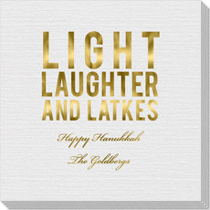 Light Laughter And Latkes Linen Like Napkins
