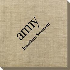Big Word Army Bamboo Luxe Napkins
