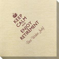 Keep Calm and Enjoy Retirement Bamboo Luxe Napkins
