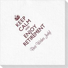 Keep Calm and Enjoy Retirement Deville Napkins