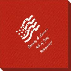 American Flag Linen Like Napkins