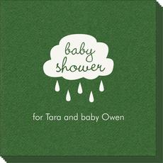 Baby Shower Cloud Linen Like Napkins
