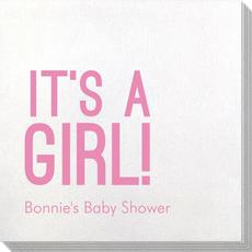 Bold It's A Girl Bamboo Luxe Napkins