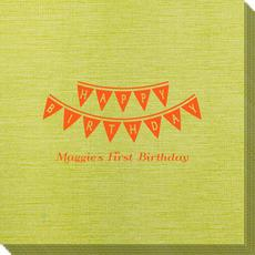 Birthday Banner Bamboo Luxe Napkins