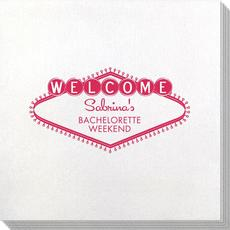 Welcome Marquee Bamboo Luxe Napkins