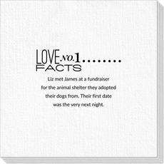 Just the Love Facts Deville Napkins