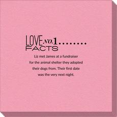 Just the Love Facts Linen Like Napkins