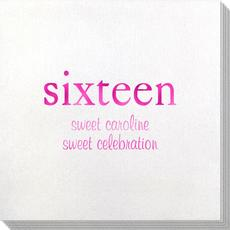 Big Number Sixteen Bamboo Luxe Napkins