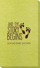 And The Story Begins with Baby Feet Bamboo Luxe Guest Towels