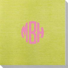 Rounded Monogram Bamboo Luxe Napkins