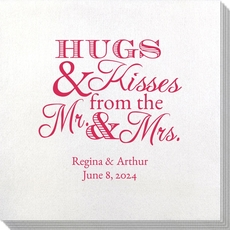 Hugs and Kisses Bamboo Luxe Napkins