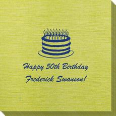 Sophisticated Birthday Cake Bamboo Luxe Napkins