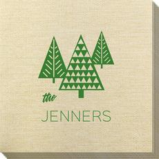 Modern Trees Bamboo Luxe Napkins