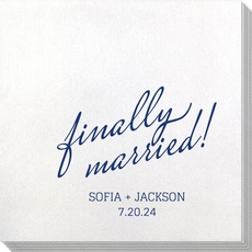 Expressive Script Finally Married Bamboo Luxe Napkins