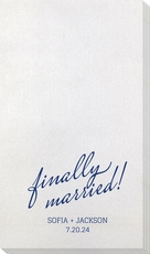 Expressive Script Finally Married Bamboo Luxe Guest Towels