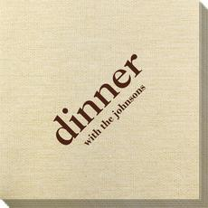 Big Word Dinner Bamboo Luxe Napkins