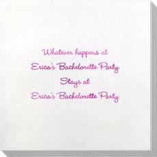 Whatever Happens Party Bamboo Luxe Napkins
