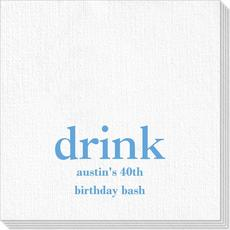 Big Word Drink Deville Napkins